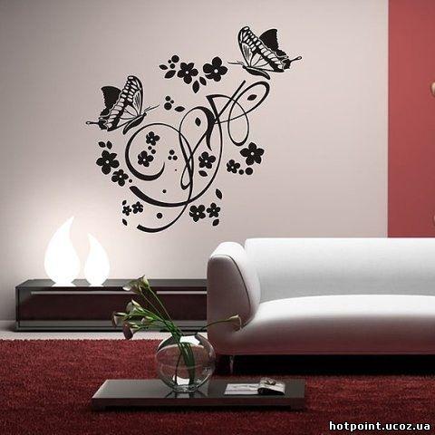 Рисунок на стене своими руками трафареты